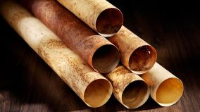 stehleuchte Holz Furnier
